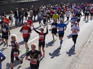 21.04.2013 - km 16 beim Hamburg-Marathon