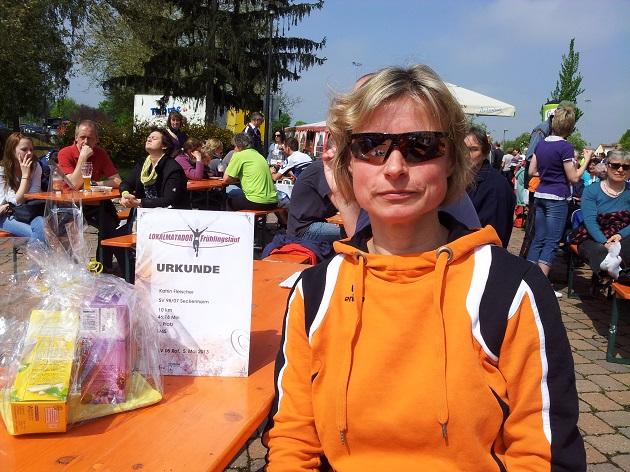 Frühlingslauf St. Leon-Rot 2. Platz in meiner Altersklasse mit 46:18 min