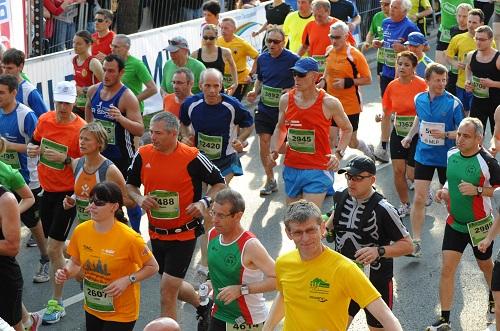 Mit den Lauftrefflern am Start beim MLP Marathon Foto: Go4it