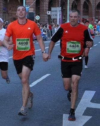 Zieleinlauf, gemeinsam gehts besser ;) Foto: Go4it