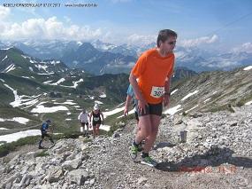 Harald auf dem Weg zum Gipfel